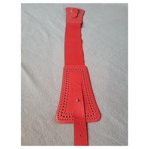Accessories - Wide red belt XS